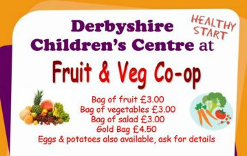 Fruit and Veg Co-op at many Derbyshire Children's Centres